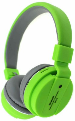 Odile portable bluetooth headphone with mic Bluetooth Headset(Green, True Wireless)