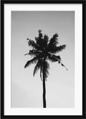 The Tropical Tree GLASS FRAMED POSTER Include MATT Fine Art Print(17 inch X 12 inch, Framed)