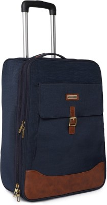 bags.r.us Maroon Cabin Trolley Small Travel Bag   One Size Blue