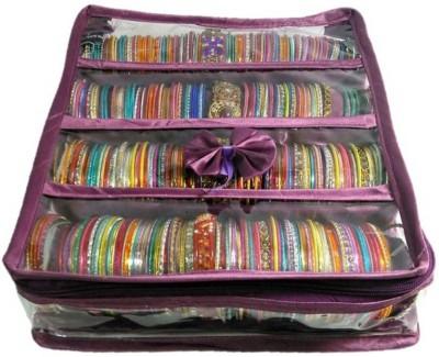 Aadhya Multipurpose Bangle Box Jewellery Vanity Box(Purple)