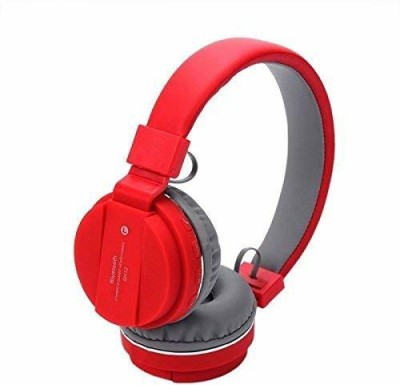 Nine9 Bluetooth Headphone with FM/SD Card Bluetooth Headset(Red, On the Ear)