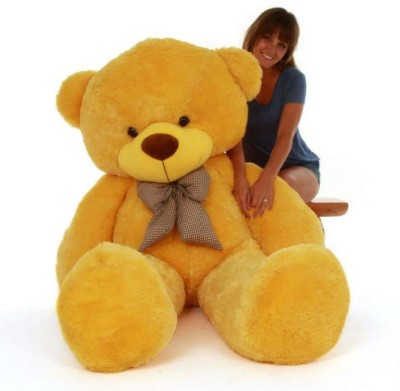 AVS 4 Feet Stuffed Spongy Hugable Imported Teddy Bear  Super Quality  Special For Gift   122 cm Yellow AVS Soft Toys