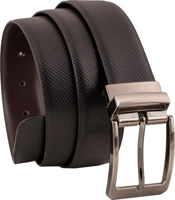 LEVART Men Party Black Artificial Leather Reversible Belt