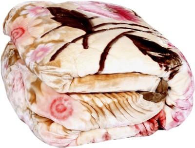 ABICON Printed Double Mink Blanket(Microfiber, Multicolor)