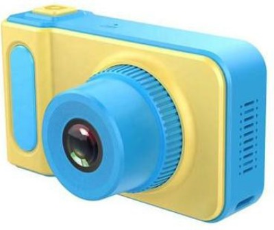 BabyTiger Mini Digital Camera for Kids with Expandable Memory - Blue/Yellow Kids...