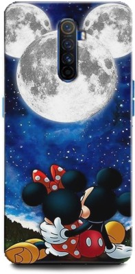 INDICRAFT Back Cover for Realme X2 Pro Minnie Mouse, Fine pink Art, Mickey Mouse, Comic, cartoon, Disney, Moon(Multicolor, Hard Case)