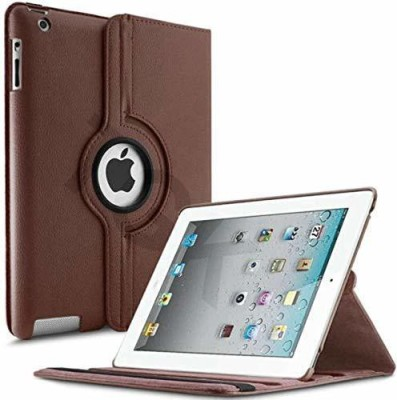 TGK Book Cover for Apple iPad 2, iPad 3,iPad 4 (A1458, A1459, A1460, A1416, A1430, A1403, A1395, A1396, A1397)(Brown, Cases with Holder)