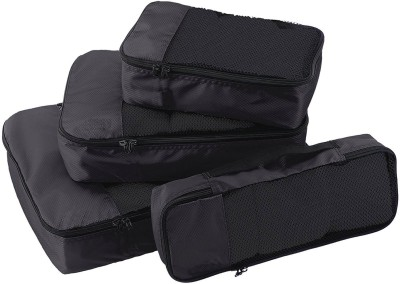 Walletsnbags T49 Garment Cover Packing Cubes Set Of 4  SMALL .MEDIUM , LARGE AND SLIM  T49 Black Walletsnbags Garment Covers