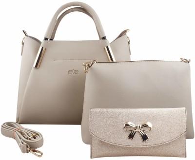 Nevis Women Beige Hand-held Bag(Pack of: 3)