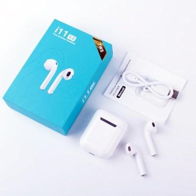 YORA TWS i11 5.0 Wireless Earphone hs with Portable Charging Case Bluetooth Headset(White, True Wireless)