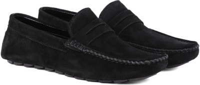 LOUIS STITCH Demesure Unerobe Finest Quality Suede Moccasins Loafers for Men Ultra Comfortable Stylish and Robust Loafers For Men(Black)