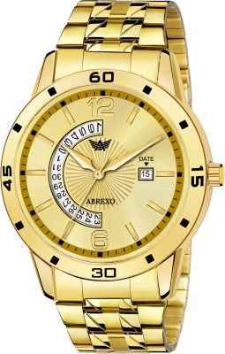 Abrexo 1228-GD GOLD Gold Platted Unique New Design Date Feature Boys Analog Watch  - For Men