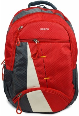 DRAZO 1008 NZ RED Waterproof School Bag(Red, 25 L)