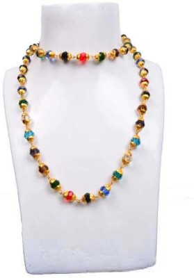 SHIV MART Energized and Natural Navratan Hakik Stone Beads Chain Gold-plated Plated Metal Chain