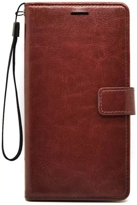 Sosh Flip Cover for RealMe C2(Brown, Cases with Holder)