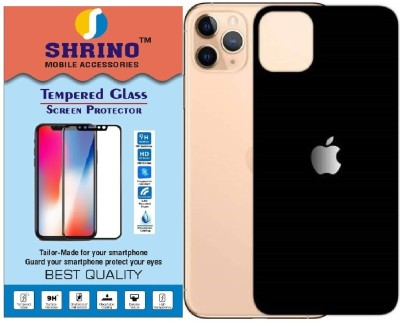 SHRINO Edge To Edge Tempered Glass for Shrino Compatible for iPhone 11 Pro Tempered Glass Back case Friendly 3D Tempered Glass Screen Protector for i11 pro (Black)(Pack of 1)