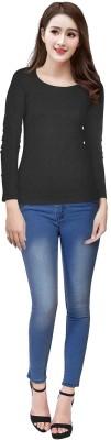 JAY SALES Casual Full Sleeve Solid Women Black Top