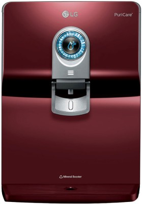 LG A2E Plus - WW160EP 8 L RO Water Purifier With Dual Protection Stainless Steel Tank, Smart Display(Red)