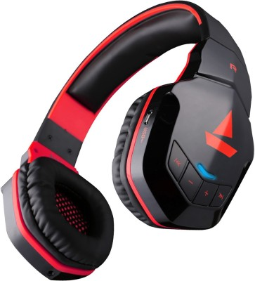 boAt Rockerz 510 Super Extra Bass Bluetooth Headset(Raging Red, Over the Ear)