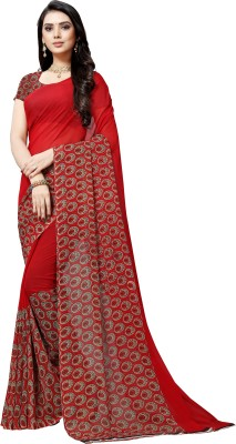 Anand Sarees Paisley Daily Wear Georgette Saree(Red)