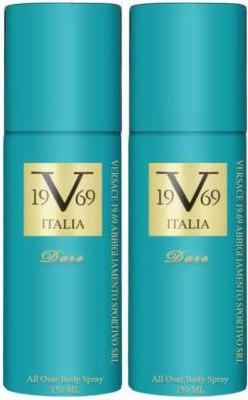 v 19.69 italia TWO DARE Body Spray  -  For Men & Women(300 ml, Pack of 2)