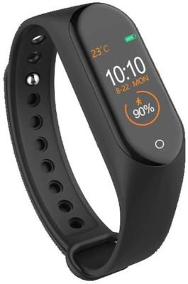 Aerizo M4 Bluetooth Fitness Wrist Smart Band(Black Strap, Size : M)