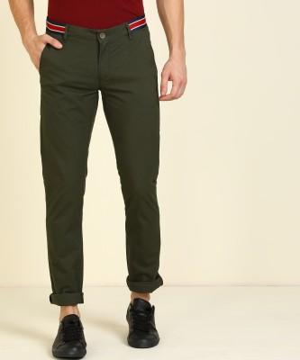 John Players Skinny Fit Men Green Trousers