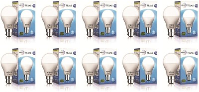 Wipro 9 W Standard B22 LED Bulb (White, Pack of 10)
