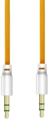 Fedus Audio Flat 3.5mm 1 m AUX Cable Compatible with Mobile, Yellow, One Cable Fedus Computers
