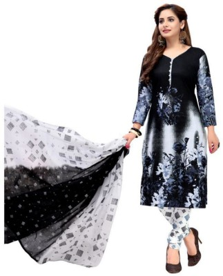 Reya Crepe Printed Salwar Suit Material(Unstitched)