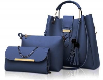 Fargo Women Blue Hand-held Bag(Pack of: 3)