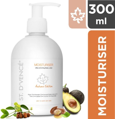 ST. D'VENCÉ Body Moisturiser Autumn Edition enriched with Argan Oil, Avocado Butter, Avocado Oil for Extremely Dry Skin (Parabens Free...