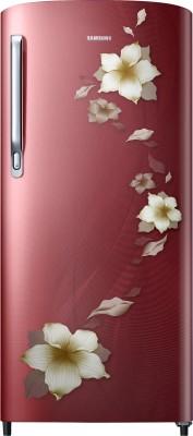 Samsung 192 L Direct Cool Single Door 2 Star (2020) Refrigerator(Star Flower Red, RR19T271BR2/NL)