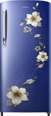 Samsung 192 L Direct Cool Single Door 2 Star (2020) Refrigerator(Star Flower Blue, RR19T271BU2/NL)