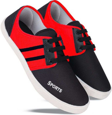 World Wear Footwear 5011-Latest Collection Stylish Casual Loafer Sneakers Shoes For Men Sneakers For Men(Red)