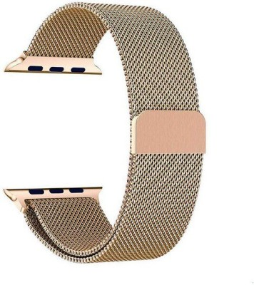 Gripp 44mm Stainless Steel Mesh Milanese Loop Strap Watch Series 1 /Series 2/ Series 3/ Series 4 with Magnetic Clasp (Gold) Smart Watch Strap(Gold)