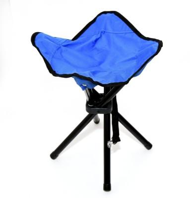 Vidisa Foldable Stool Portable Travel Chair Four-Leg Stool for Outdoor Travel Stool(Blue, Pre-assembled)
