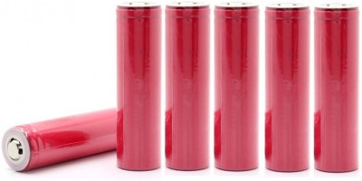 Schrodinger 90068 Pink 18650 Button Top Rechargeable battery 6pcs/Order 2000mah 3.7V (not AA not AAA) Battery(Pack of 6)