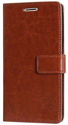ANVIKA Flip Cover for Redmi 3S PrimeLeather Wallet Flip Stand Case Cover(Brown, Cases with Holder)