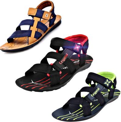 Calcados Men Tan Sandals