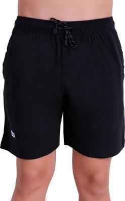 TT Solid Men Black Bermuda Shorts