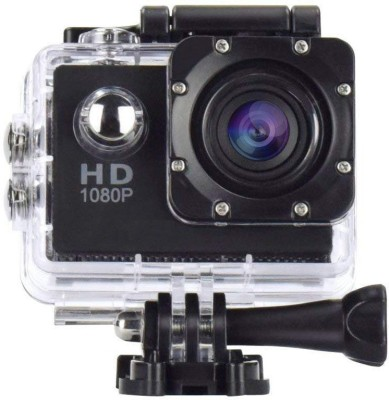 Tricoloursales Ultra HD Action Camera 1080P Sports and Action Camera Black, 12 MP