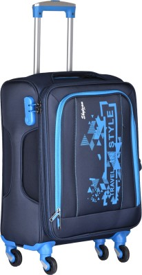 Skyteam 1989 Blue Expandable Cabin   Check in Luggage   20 inch