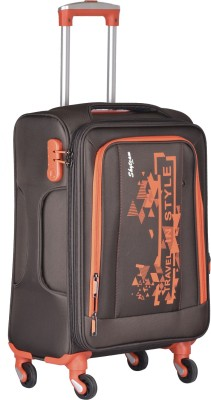 Skyteam 1989 Orange Expandable Cabin   Check in Luggage   20 inch