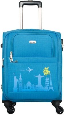 TIMUS Salsa Ocean Blue 55 CM 4 Wheel Strolley Suitcase For Travel   Cabin Luggage  Expandable Cabin Luggage   20 inch  Blue  Expandable Cabin Luggage
