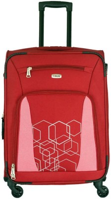Timus Morocco Spinner Red 65 CM 4 Wheel Strolley Suitcase For Travel Check in Luggage   24 inch Expandable Check in Luggage   24 inch Timus Suitcases