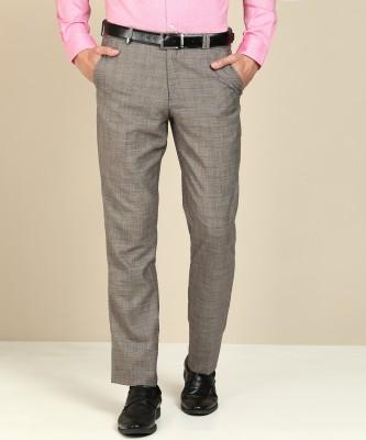 John Players Regular Fit Men Brown, Black Trousers