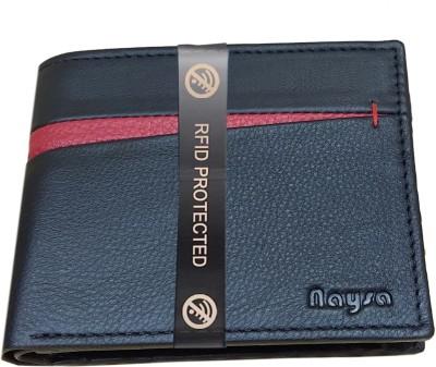 Naysa Men Formal Black Genuine Leather Wallet 6 Card Slots