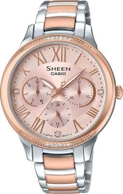 Casio SX204 Sheen ( SHE-3058SPG-4AUDR ) Analog Watch - For Women