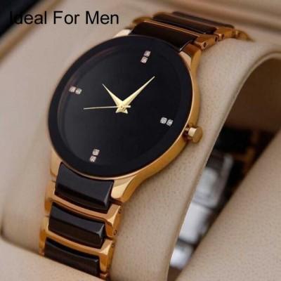 QUEBEC Men And Boys Luxury Designer Attractive Gold Analog Watch  - For Men